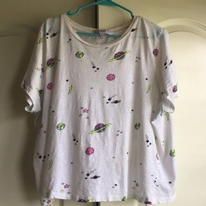 Plus Size Cropped Space T! Size 3X